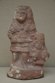 Terracotta figure of an emperor in military dress subduing an armed warrior, probably Hadrian, 118-135 AD, British Museum