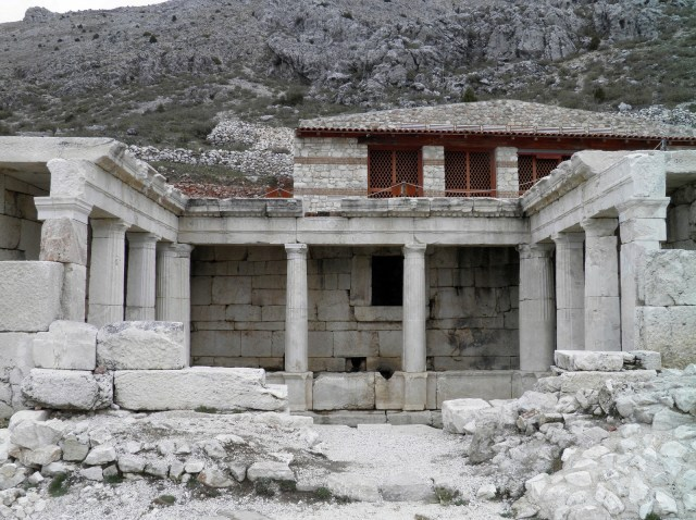Late Hellenistic fountain house, built during the 1st century BC as a U-shaped portico © Carole Raddato