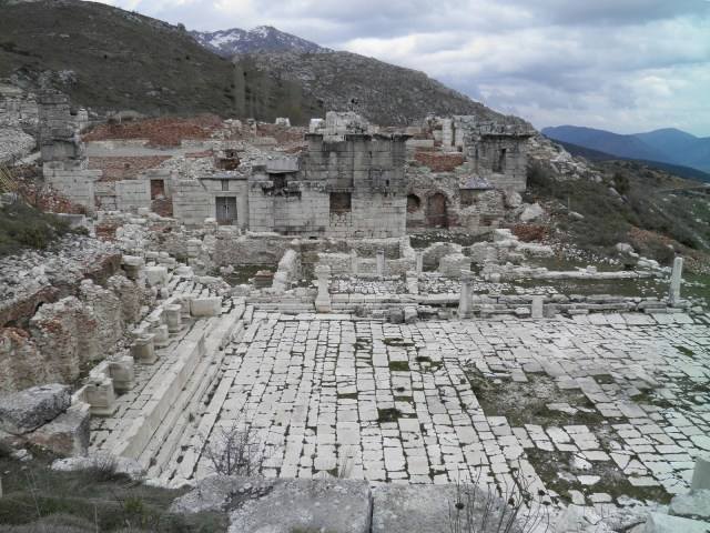 View of the Lower Agora and the Roman Baths complex, Sagalassos, Turkey © Carole Raddato