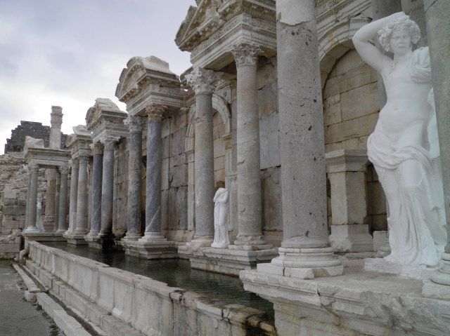 The restored Antonine Nymphaeum, erected ca. 160-180 AD © Carole Raddato