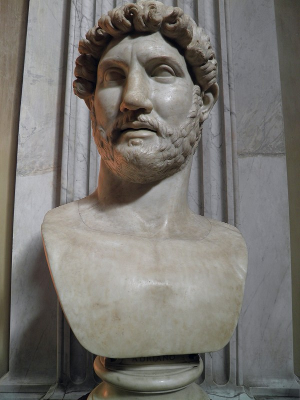Bust of Hadrian, from Hadrian's Mausoleum. Possibly created following the emperor's death in 138 AD (Vatican Museums).
