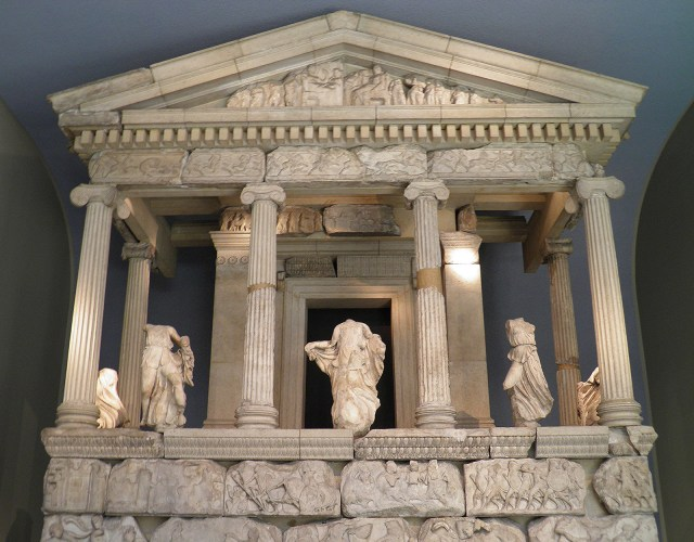The reconstructed façade of the Nereid monument of Xanthos, British Museum, London © Carole Raddato