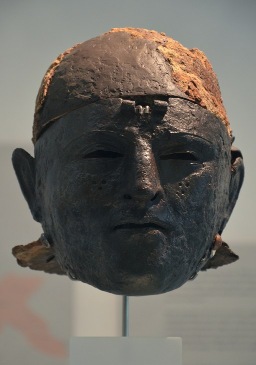 Cavalry Face-Mask Helmet, found at Noviomagus (Kops Plateau), Museum het Valkhof, Nijmegen (Netherlands) © Carole Raddato