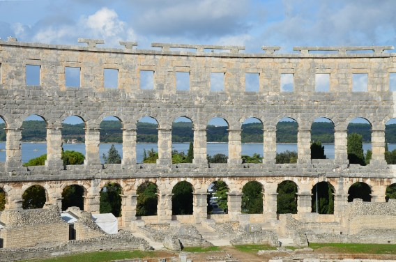 View of the harbour through the arena walls © Carole Raddato