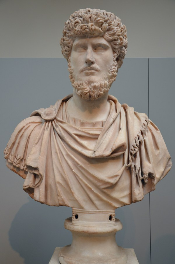 Marble bust of the emperor Lucius Verus, from Rome, circa 161-170 AD British Museum