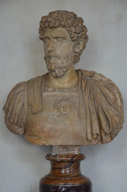 Lucius Aelius Caesar, intended successor of Hadrian who died prematurely, 2nd century AD, Galleria degli Uffizi, Florence