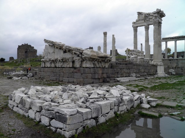 The Temple of Trajan (Trajaneum), Upper Acropolis, Pergamon © Carole Raddato