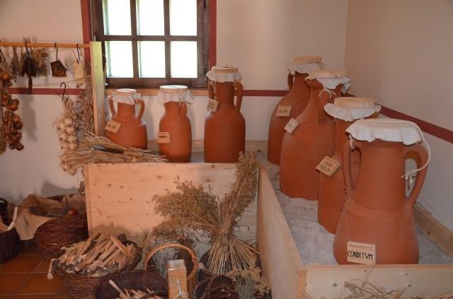 The reconstructed Roman kitchen (culina), Villa Borg © Carole Raddato