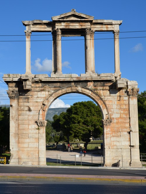 Arch of Hadrian, northwest side (towards the Acropolis), Athens © Carole Raddato