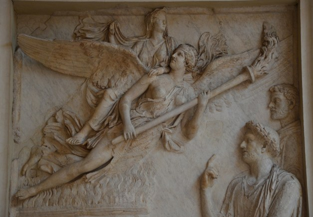 Relief from the Arc of Portugal (Arco di Portogallo) representing the apotheosis of Sabina (wife of Hadrian), 2nd century AD, Palazzo Nuovo, Capitoline Museums © Carole Raddato