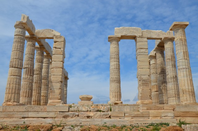 The temple of Poseidon at Cape Sounion, north side colonnade, Cape Sounion © Carole Raddato