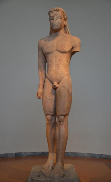 Statue of a Kouros, from the Sanctuary of Poseidon at Sounion, ca. 600 BC National Archaeological Museum of Athens © Carole Raddato
