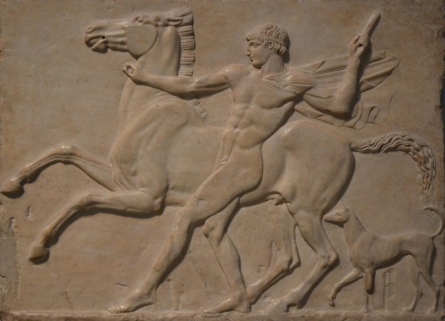Boy with horse (possibly Castor), marble relief from Hadrian's Villa, 125 AD, British Museum © Carole Raddato