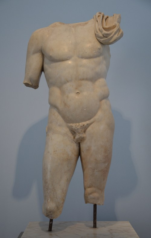 Nude hero, Achilles?, from the Hadrianic Baths, 2nd century AD, Aphrodisias Museum Carole Raddato CC BY-SA