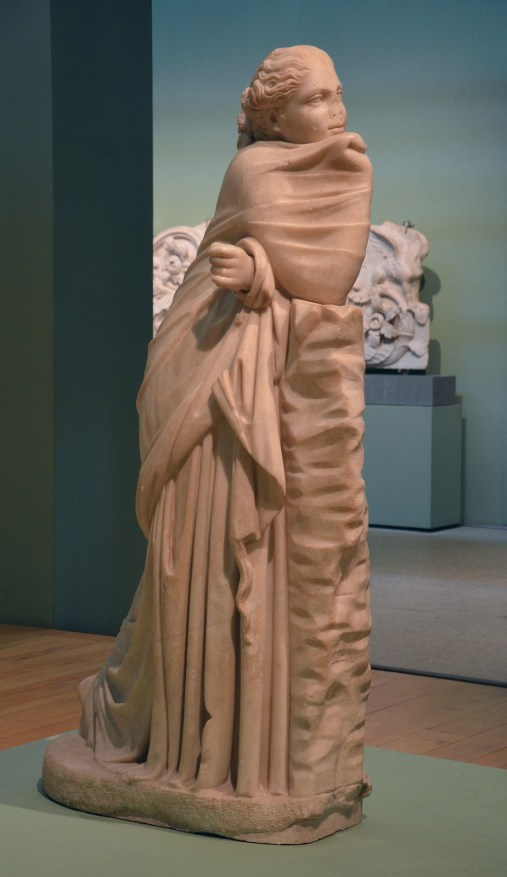 Statue of a Muse (Polyhymnia?), Found in via Terni inside an ancient underground passage in the area of the Horti Variani, 2nd century BC Centrale Montemartini, Rome