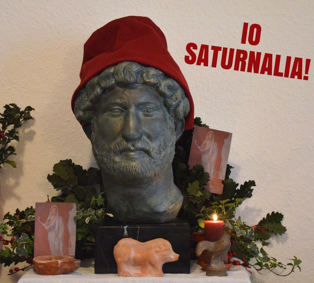 My homemade Saturnalia shrine