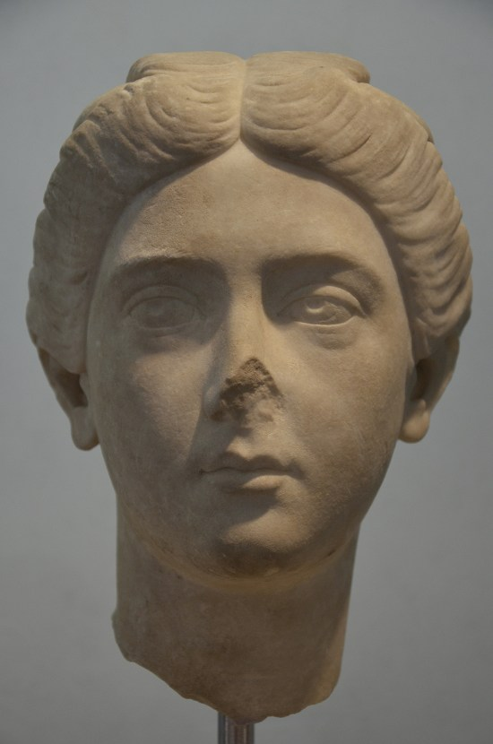 Portrait of Bruttia Crispina, wife of Commodus, from Hadrian's Villa, c. 178 AD. Palazzo Massimo alle Terme, Rome