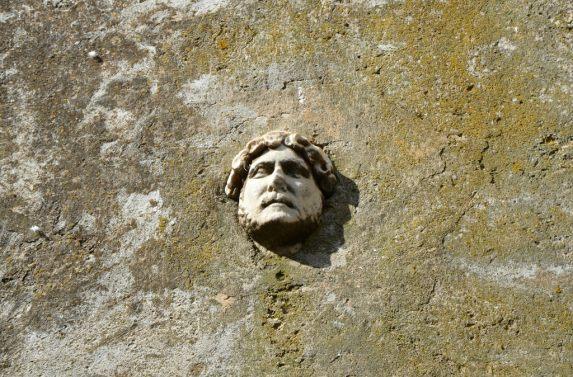 Head of Hadrian, Arco Santo, Capalbio, Italy.