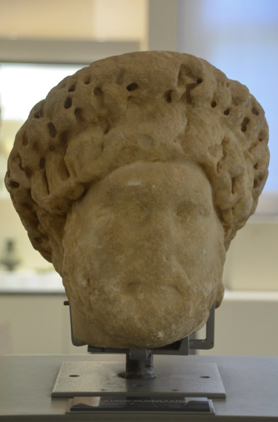 Head of Hadrian with corona civica, from the south area of Beirut, American University of Beirut Museum, Lebanon