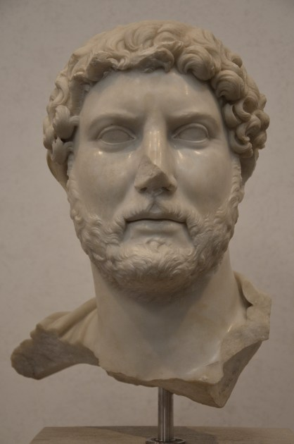 Fragmentary bust of Hadrian, from the area of Santa Bibiana at Termini station, ca. 117-120, Palazzo Massimo alle Terme, Rome