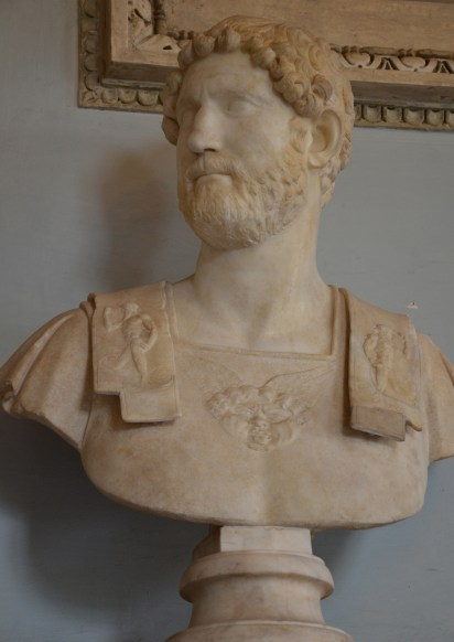 Bust of Hadrian, 2nd century, from Rome, Capitoline Museums