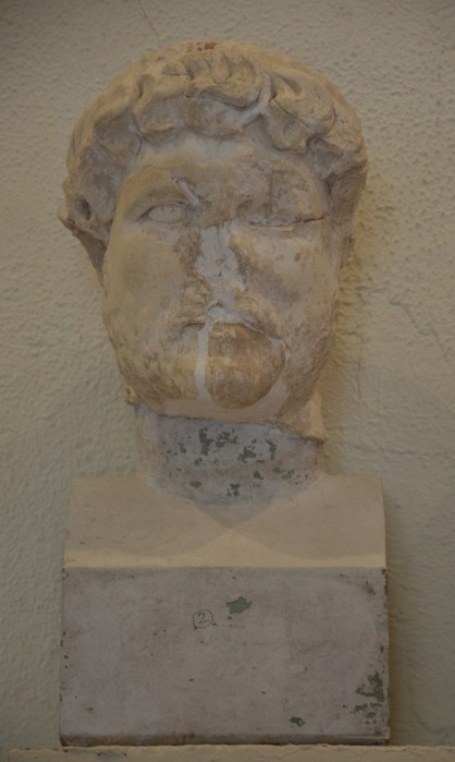 Fragmented head of Hadrian, Archaeological Museum of Epidaurus