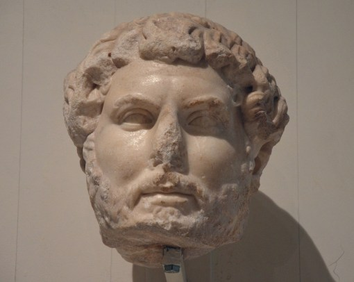 Head of Hadrian, of the so-called Chiaramonti 392 type, from Ephesus, found among the ruins of the The Gate of Mazeus and Mithridates, Ephesos Museum Vienna, Austria