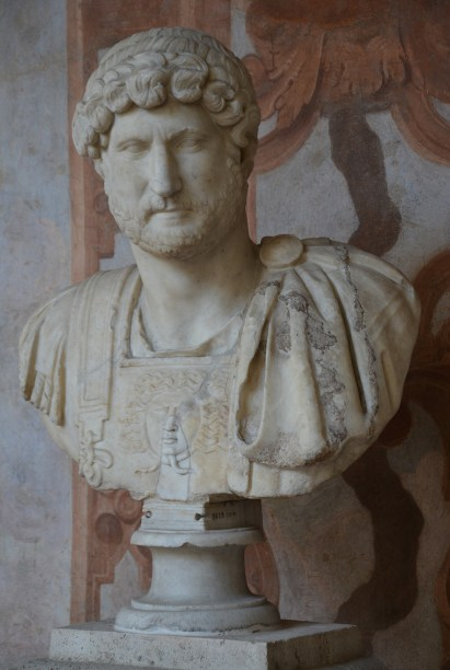 Marble head of Hadrian on a modern bust (type: Variant of Stazione Termini), from Rome?, Palazzo Altemps, Rome