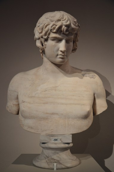 Bust of Antinous, 130 - 140 AD, from Rome, Altes Museum, Berlin