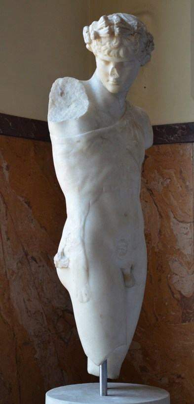 Statue of Antinous as a Dionysiac figure, Pentelic marble, from the Via Modena, Centrale Montemartini, Rome