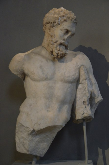 Upper part of a statue of Hercules, from the Gymnasium of Salamis, 2nd century AD, Cyprus Museum
