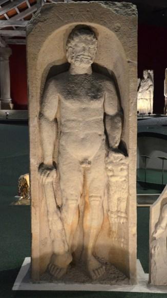 Stela depicting Hercules at rest.