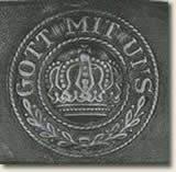 "Belt buckle insribed with phrase ""Gott mit uns"""