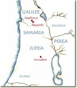 Map of Roman Palestine