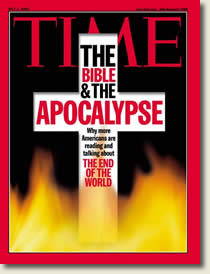 """Time Magazine cover of """"The Bible and the Apocalypse"""""""