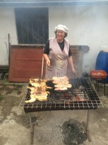 Mama in charge of the BBQ!
