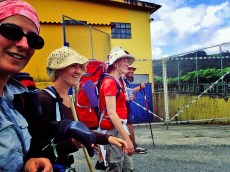 Walking with Joanna, Linke, Corbus and Vittorio