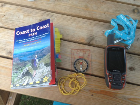 Essential items for this walk: Guidebook, compass and GPS