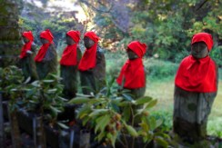Jizo statues just after Temple 22