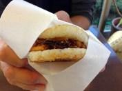 Mos Burger - a bun made of rice!