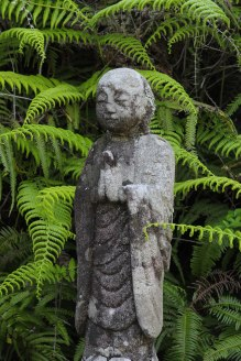 Guardian statue at the entrance to Ikkoku toge pass, Iseji route