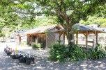 Rest hut and toilet in Nigishima, Iseji route