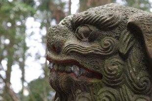 Guardian statue on Mt Bentendake, Nyoninmichi path, Koyasan