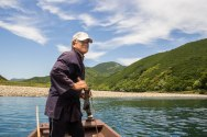 Traditional boat ride across the Hiki River, Ohechi route