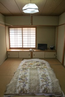 My Japanese room at Minshuku Kawarabi-so, Omata