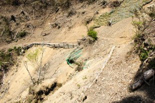 Landslides on the Kohechi trail after Miura-toge pass
