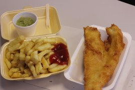 Greasy spoon fish & chips place in York