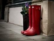 hunter-stivali-pioggia-rossi