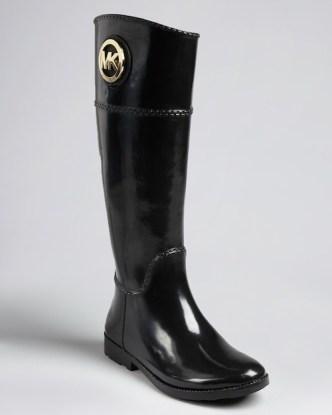 michael-kors-stivali-pioggia-nero-lucido