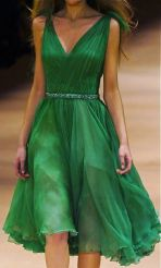 week-end-color-irish-green-look-dress-chiffon